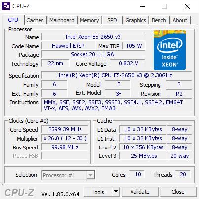 xeon E5 2650 V3