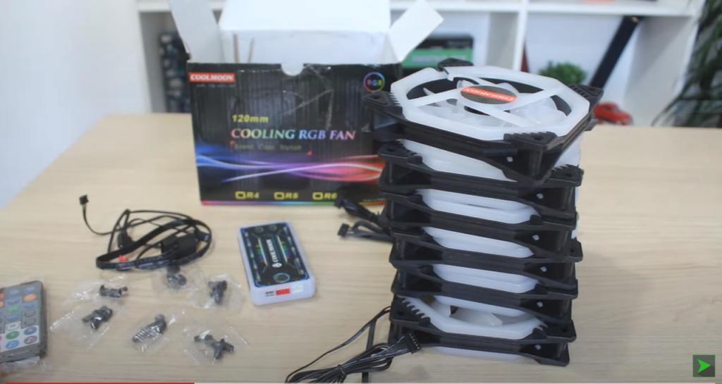 Kit de Fans da Coolmoon Cooling RGB FAN