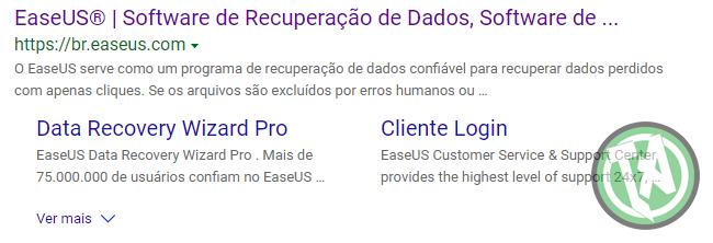 Link da EaseUS para baixa o programa