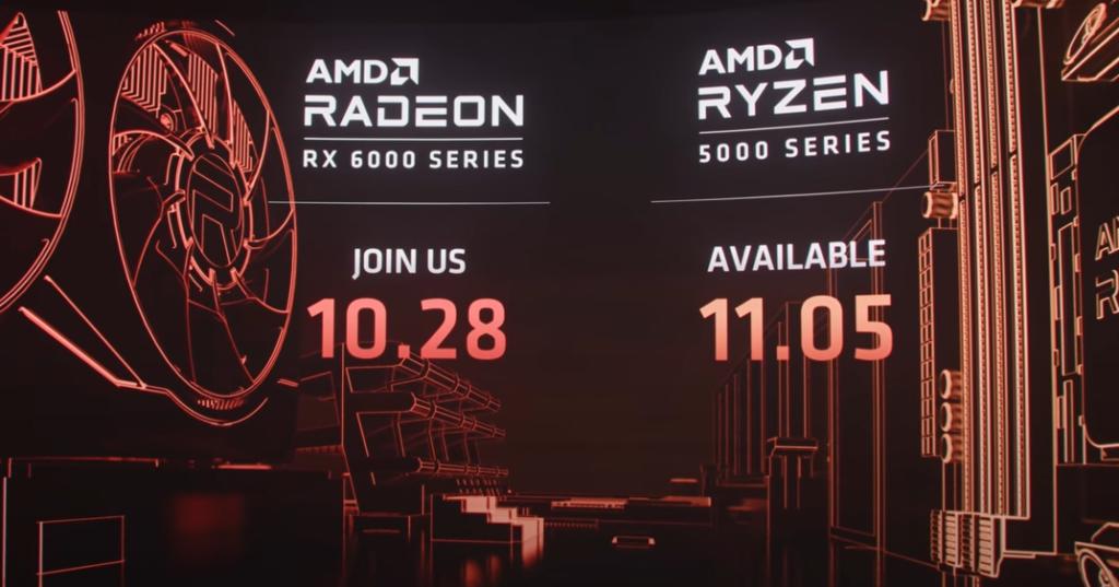 Anúncio RX 6000 e a venda do RYZEN 5000