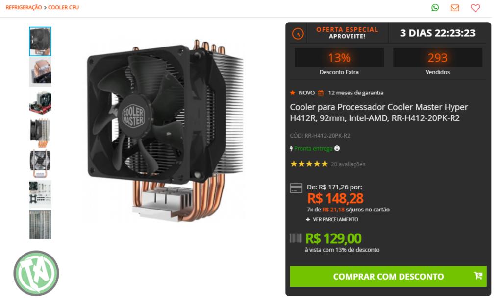 CPU Cooler na Terabyte