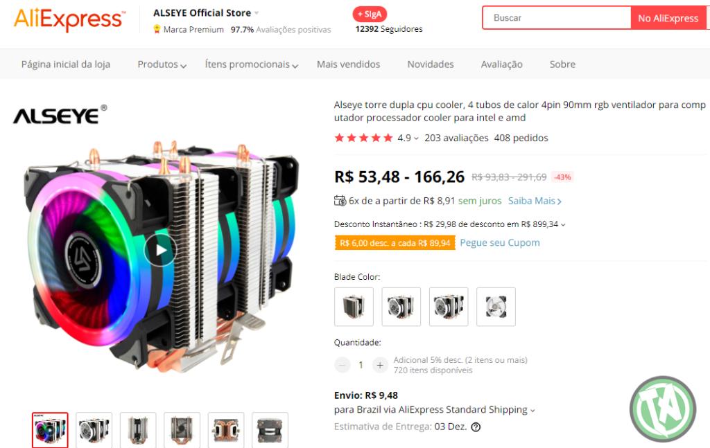 CPU Cooler no AliExpress