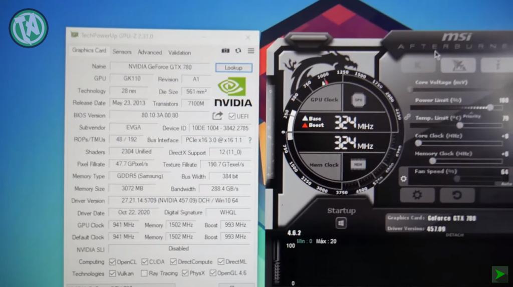 GPU-Z da GTX 780