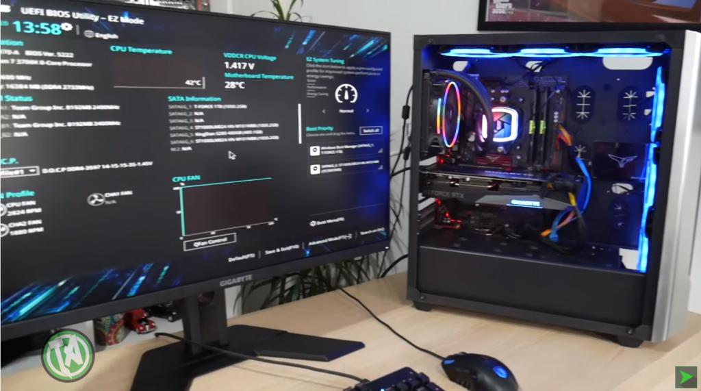 RTX 3070 montada no PC