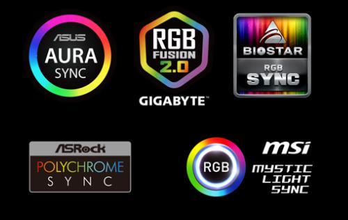 RGB compativel com vários software de controle