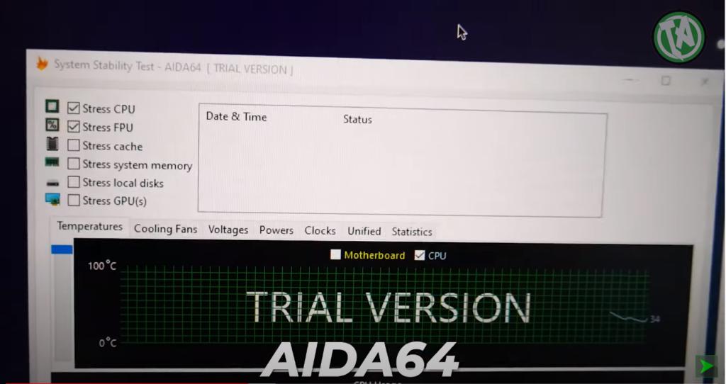 Teste no AIDA64