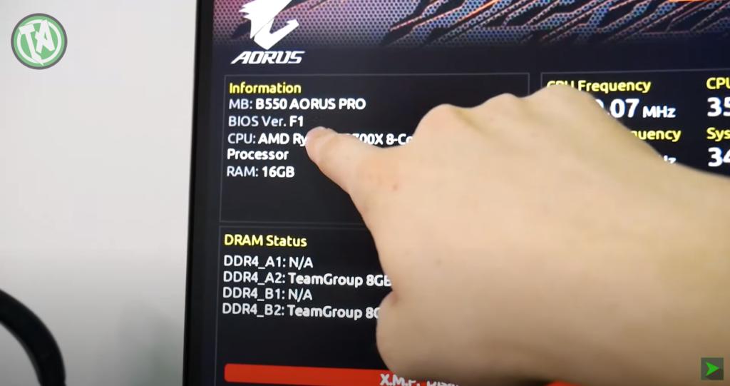 Verificando a versão do BIOS