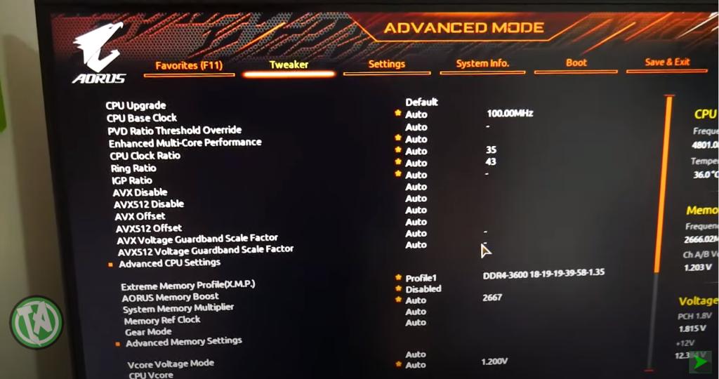 Advanced Mode, o modo avançado para todos os ajustes