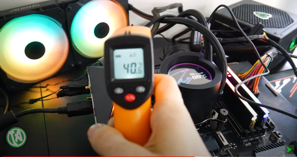 Temperatura das bobinas no inicio dos testes