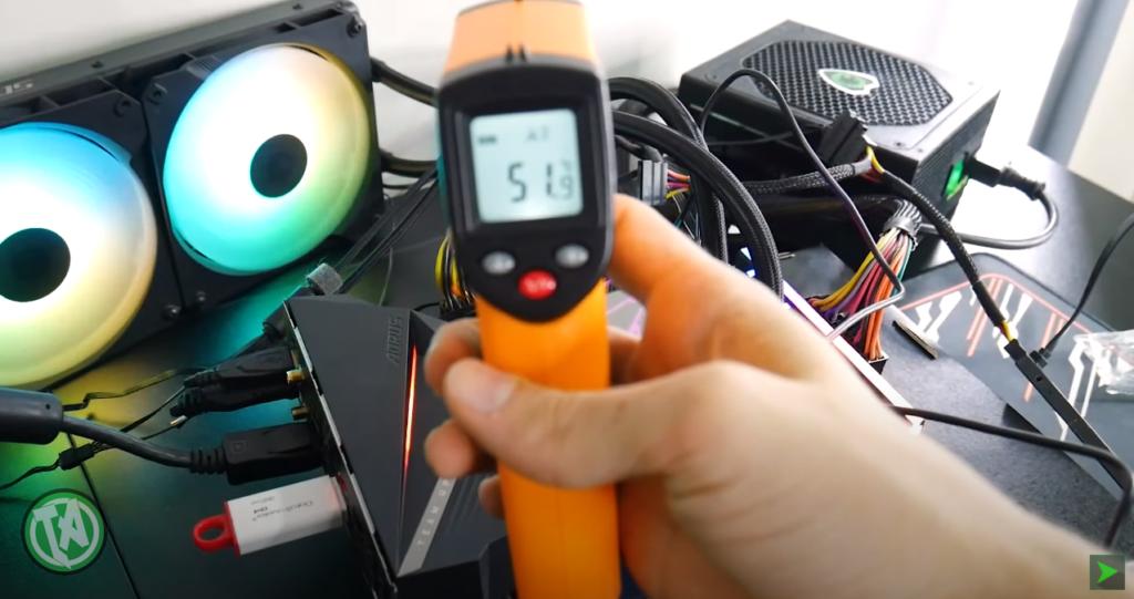 Temperatura nas bobinas depois da atualização do BIOS